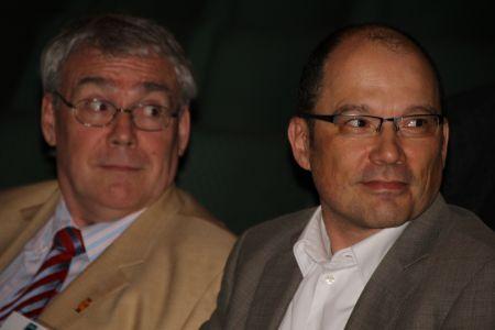 2014: Mitgliederversammlung des vfm in Köln. Der scheidende und neue Vorsitzende