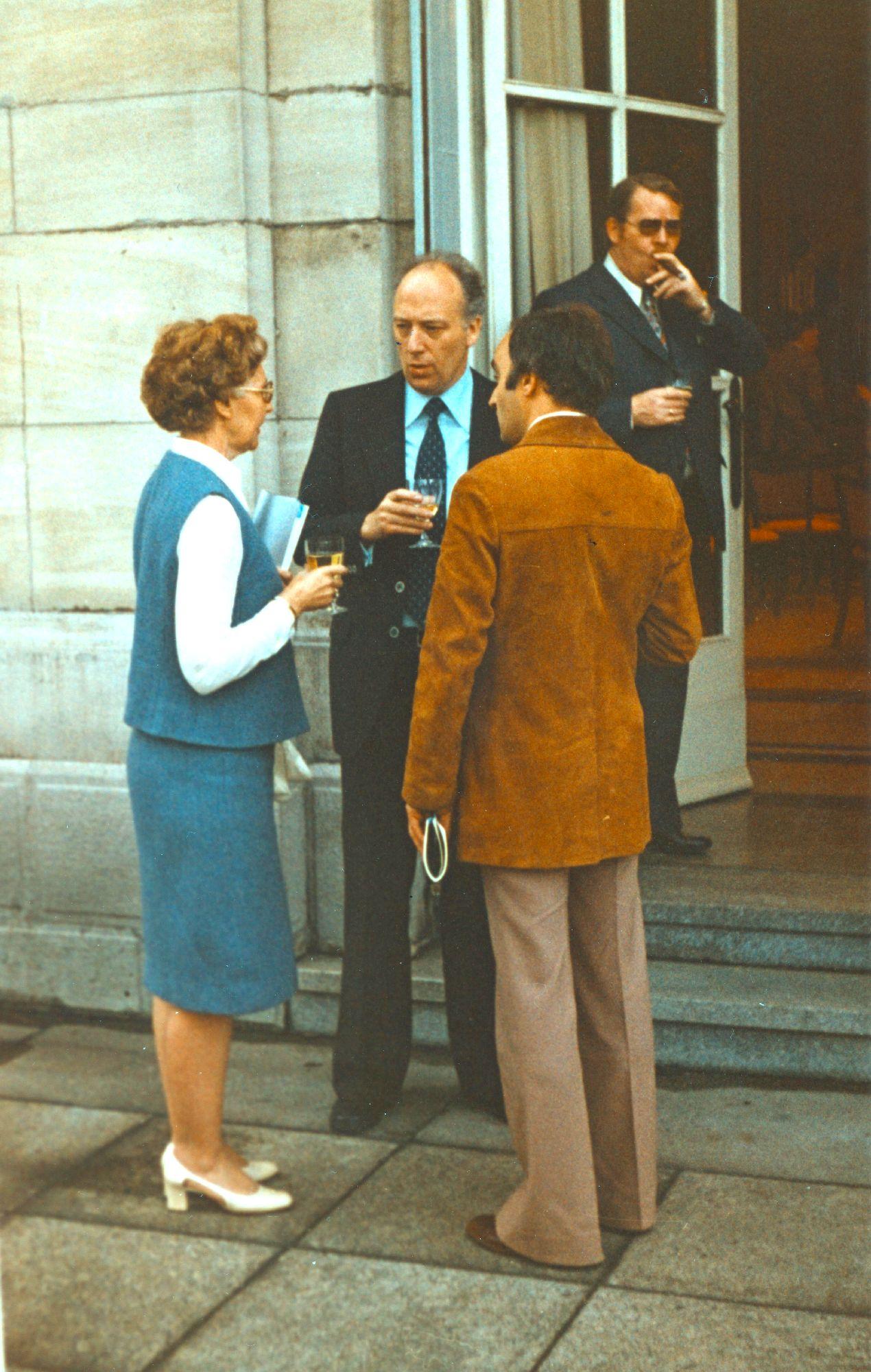 Marianne Englert 1980 in Nürnberg (mit Lotz Reese, rechts)