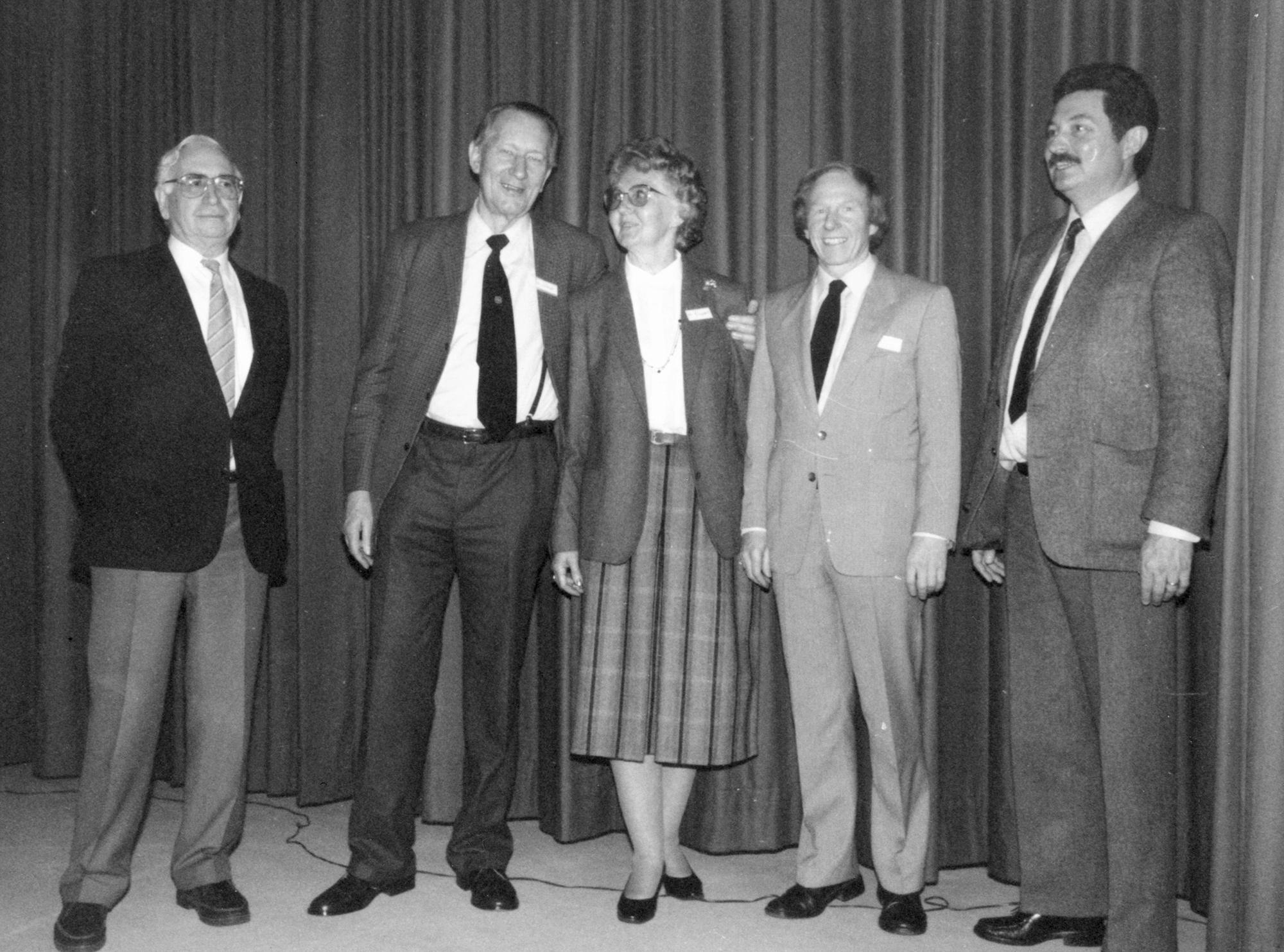 Marianne Englert 1985 in Oldenburg (mit Seeberg Sprenger Englert Gerhard Mantwill Schmitt)