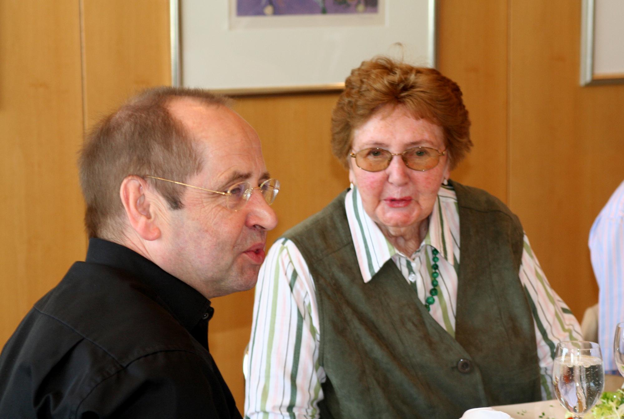 Marianne Englert 2009 (mit Klaus Heimann)